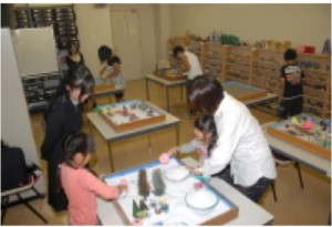 学園祭で公開された「箱庭」を用いる心理テスト