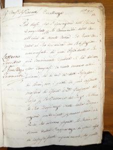 18世紀の手稿文書(撮影 大西先生)